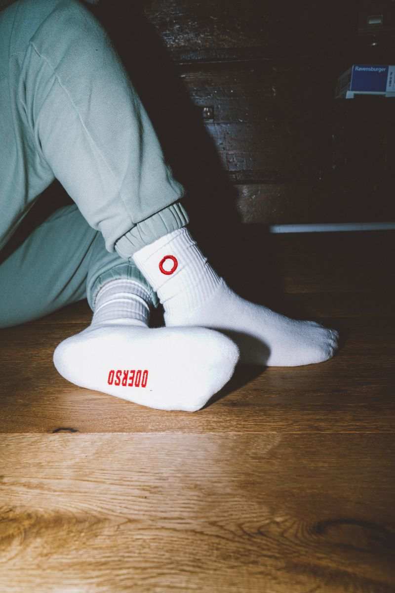 Lazybones Socks White