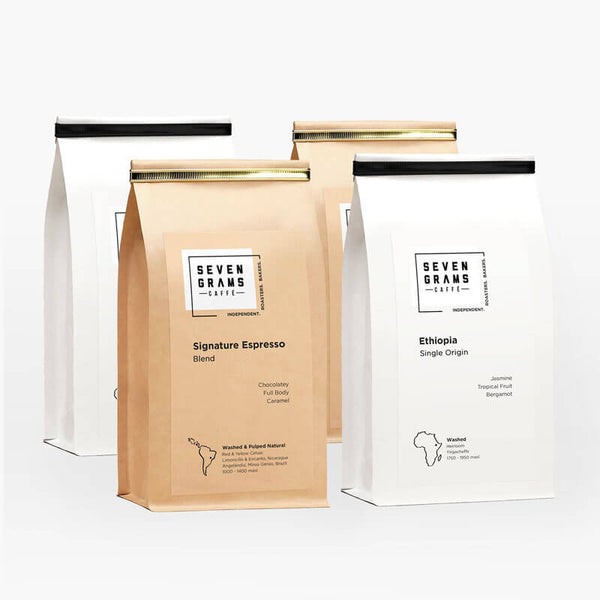 Seven Grams Caffé Coffee Bundle – Perfect Coffee Gift – Independent Coffee Roasters – Coffee Subscription
