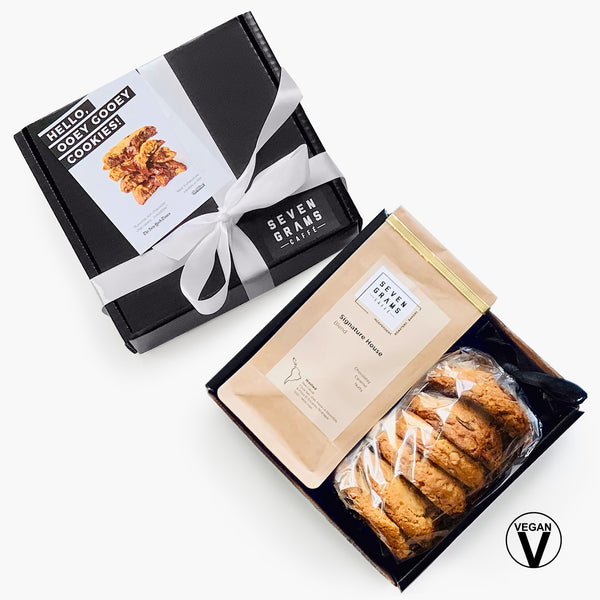 Seven Grams Caffé Gift Box – Vegan Chocolate Chip Cookies & Coffee