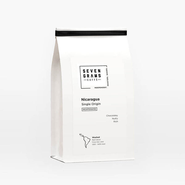 Seven Grams Caffé – Decaf Nicaragua Single Origin – Whole Coffee Beans – Independent Coffee Roasters – Coffee Subscription