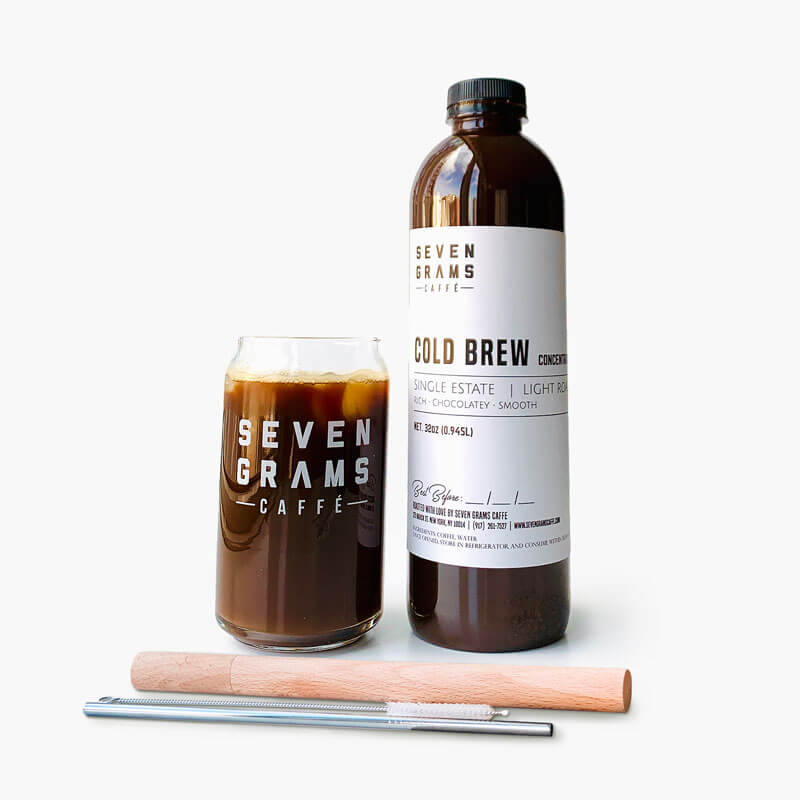 Seven Grams Caffé – The Sip At Home Cold Brew Bundle – Cold Brew Concentrate – Independent Coffee Roasters