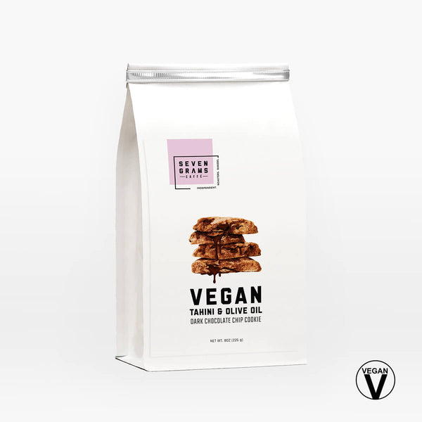 Seven Grams Caffé Snackable Tahini & Olive Oil Vegan Chocolate Chip Cookie