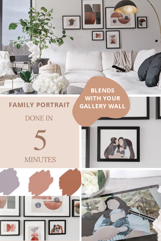 5 Minute Family Portrait Tutorial That Blends With Your Gallery Wall