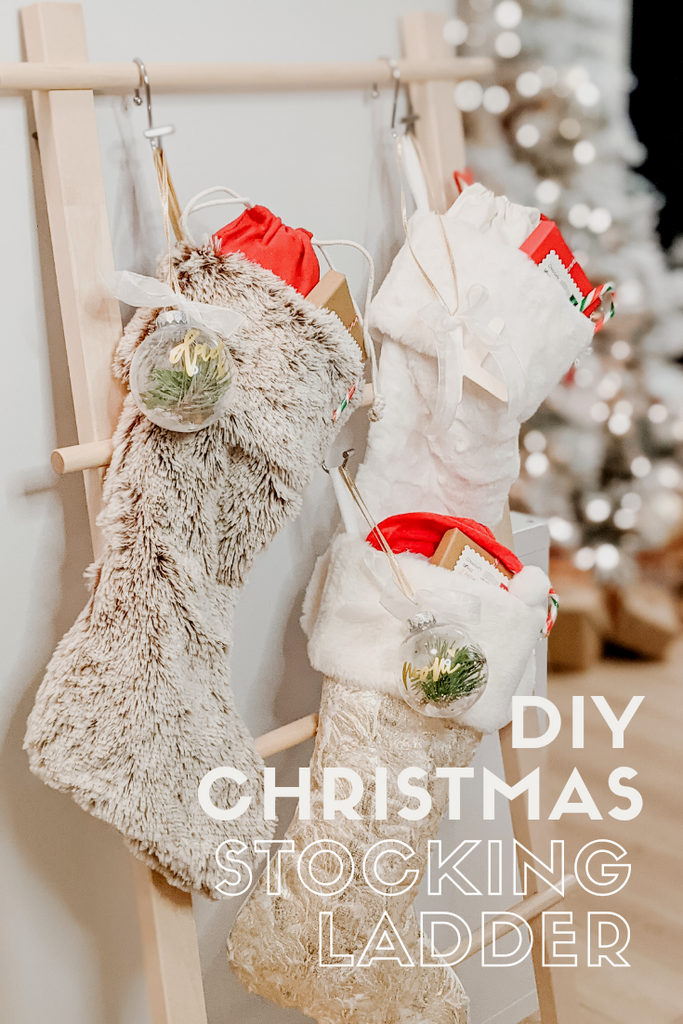 Create a Christmas Stocking Ladder