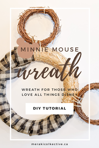 Minnie Mouse Wreath DIY
