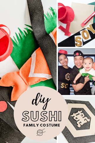 Diy costume sushi family