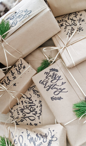 DIY How To Wrap Gifts Kraft Paper