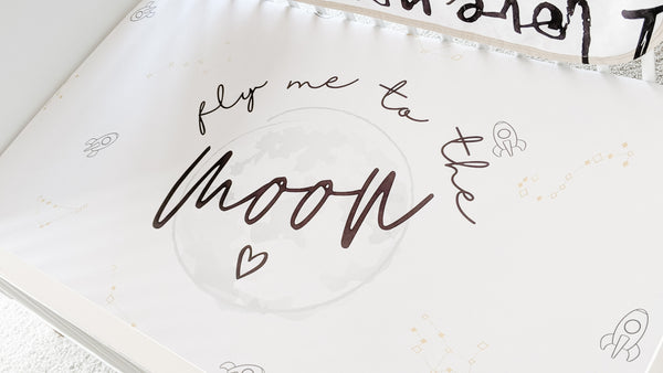 Fly Me To The Moon Crib Sheets