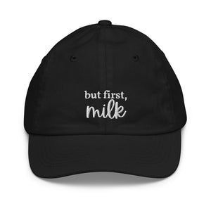 But First Milk Youth Baseball Cap