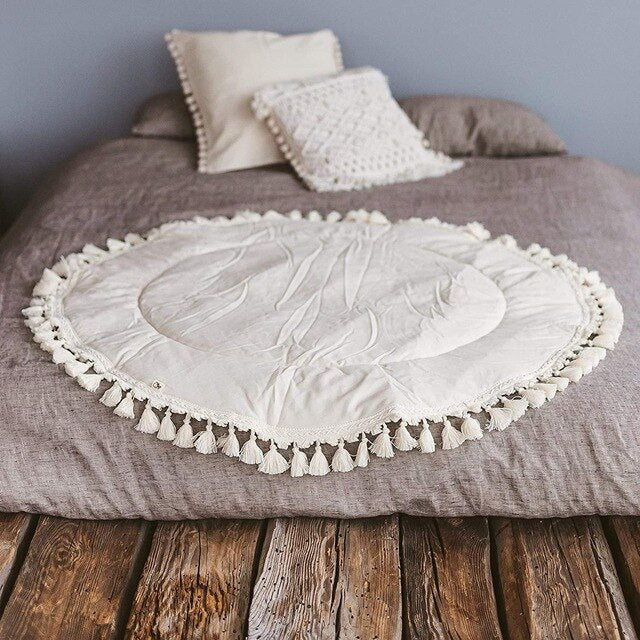 Delilah Boho Playmat with Tassels