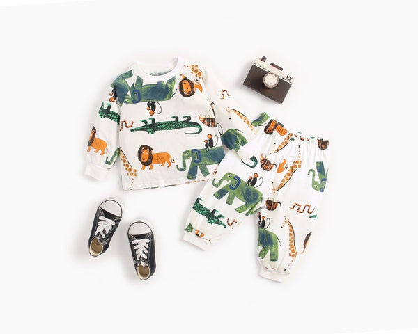 Animal Sweatshirt and Sweats Set