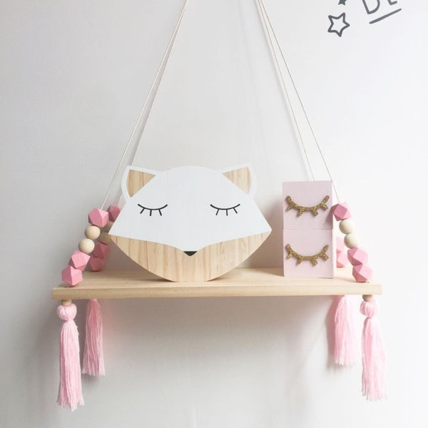 Amaya Wooden Shelf with Tassels