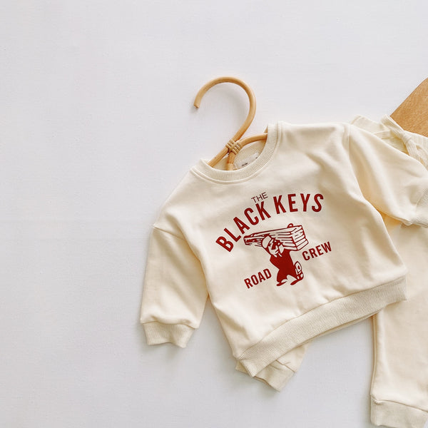 The Black Keys Sweatshirt and Harem Pants Set
