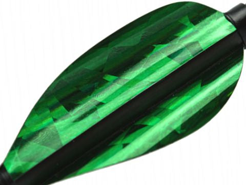 Kurly Vanes Holographic Green