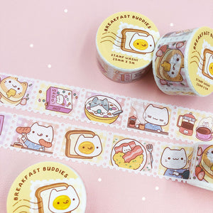 Breakfast Buddies Series SUPER Bundle - Enamel Pins + Washi Tape