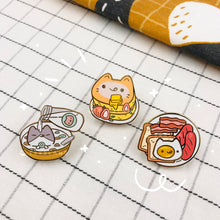 Load image into Gallery viewer, Breakfast Buddies Series SUPER Bundle - Enamel Pins + Washi Tape