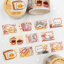 Load image into Gallery viewer, Breakfast Buddies Stamp Washi Tape
