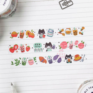 Boba Tea Time Washi Tape