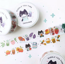Load image into Gallery viewer, Boba Tea Time Washi Tape