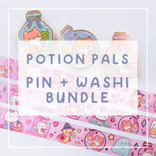 Load image into Gallery viewer, Potion Pals Series SUPER Bundle Enamel Pins + Washi Tape