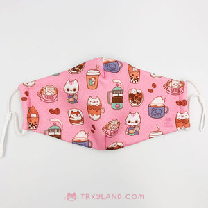 Cat Cafe Fabric Mask