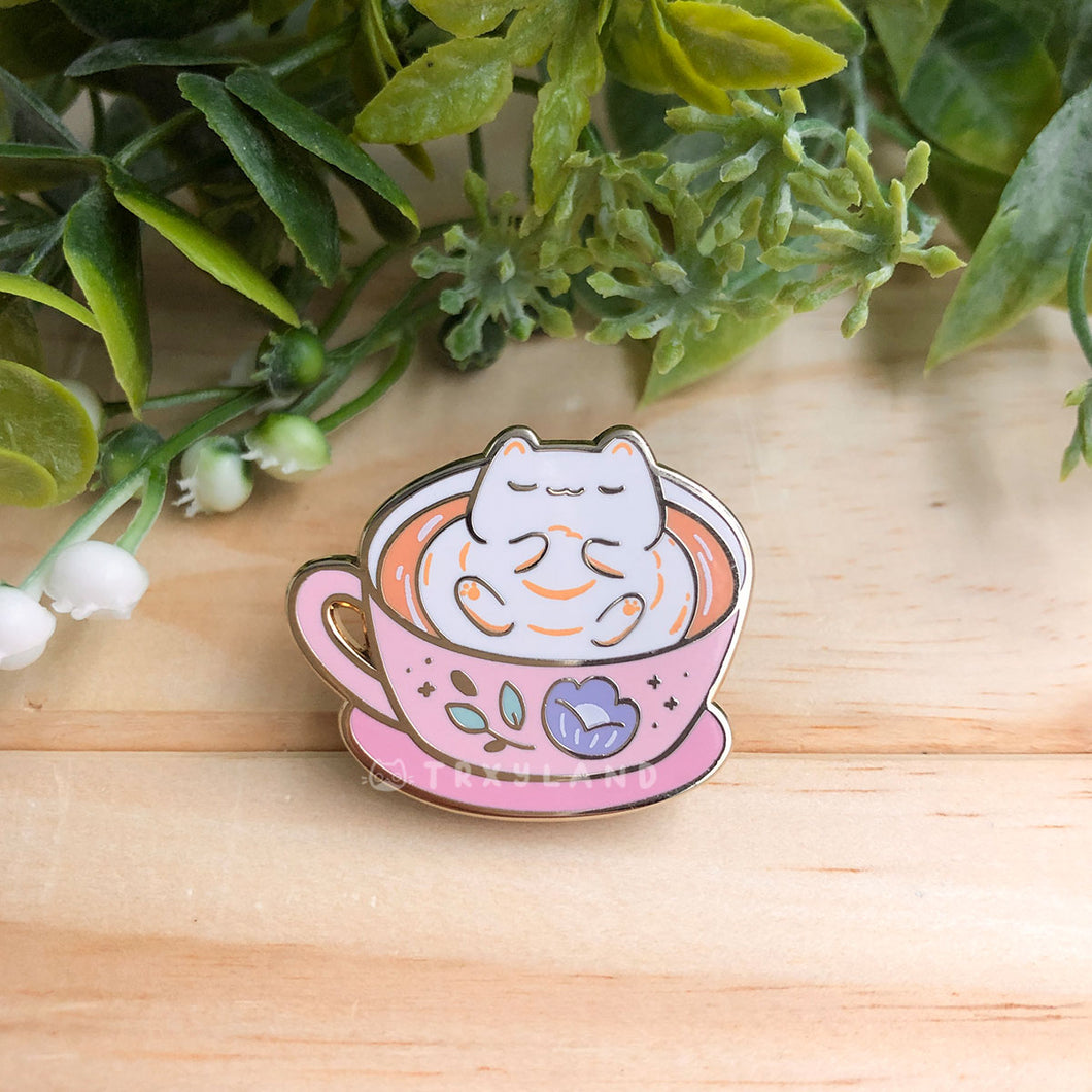 Cozy Latte Enamel Pin
