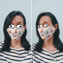 Load image into Gallery viewer, Cat Konbini Fabric Mask