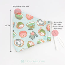 Load image into Gallery viewer, Matcha & Sweets Fabric Mask
