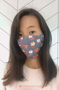RPG Kitties Fabric Mask