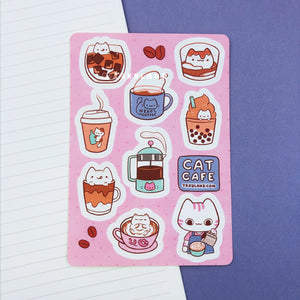 Cat Cafe Sticker Sheet