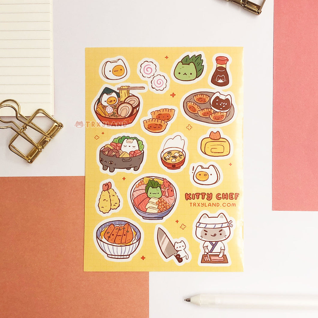V2 Kitty Chef Sticker Sheet