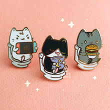 Load image into Gallery viewer, Gaming Kitty Enamel Pin