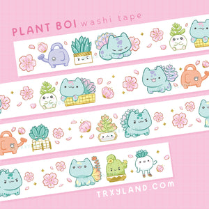 Plant Boi Series SUPER Bundle - Enamel Pins + Washi Tape