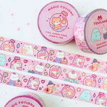 Load image into Gallery viewer, Potion Pals Pink Foil Washi Tape