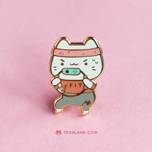 Load image into Gallery viewer, Fit Kitty Enamel Pin