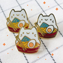 Load image into Gallery viewer, Ra-meow-n Enamel Pin