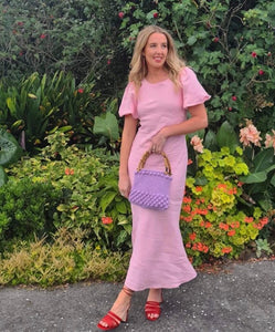 Ruby - Kendall Linen Dress in Pink