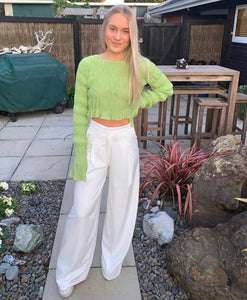 Sabo Skirt - Pistachio Scrunch Top