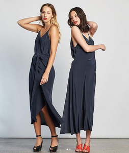 Miss Crab - Summertime Wrap Dress in Navy