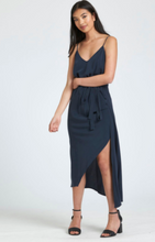 Load image into Gallery viewer, Miss Crab - Summertime Wrap Dress in Navy