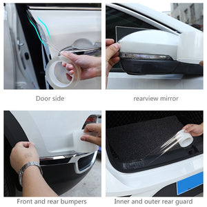 MALAGO Collission Car Door Stickers Traceless Waterproof Transparent Edge Guards Protection