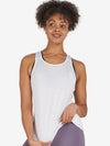 UGS Endurance Racer Back Tank Top - White