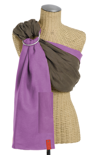 Sakura Bloom - Essential Linen Baby Sling :: Driftwood~Orchid