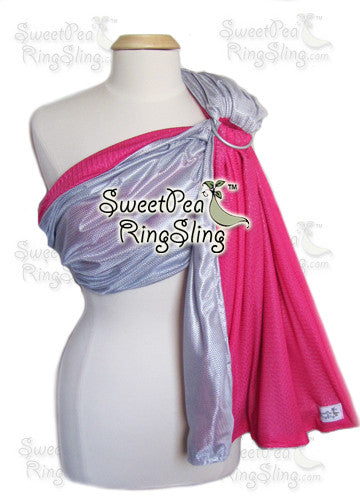 SweetPea Water Ring Sling - Pink/Silver (FINAL SALE)