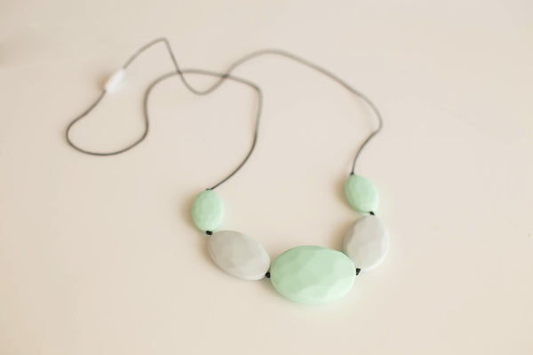 Little Teether - Teething Jewelry - Chic Mint and Smoke