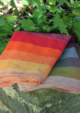 Girasol - Earthy Rainbow Herringbone Ring Sling