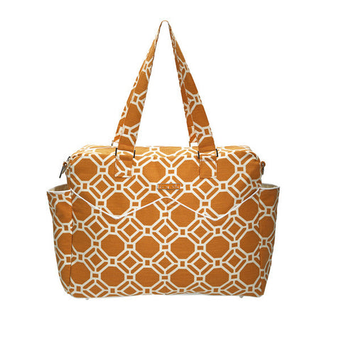 Foxy Vida - Tangelo Lattice Satchel Diaper Bag