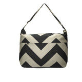 Foxy Vida - Black Denton Chevron Diaper Bag