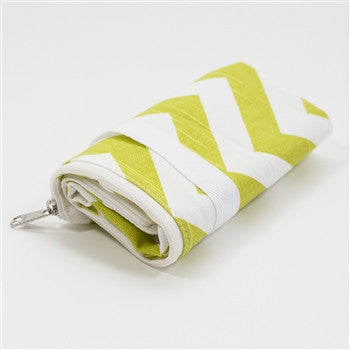 Logan and Lenora - Mini Wet Bag - Green Chevron