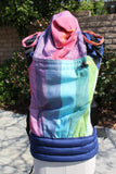 Wompat Baby Carrier - Girasol Rainbow Springs (Semi Conversion - Navy Canvas)
